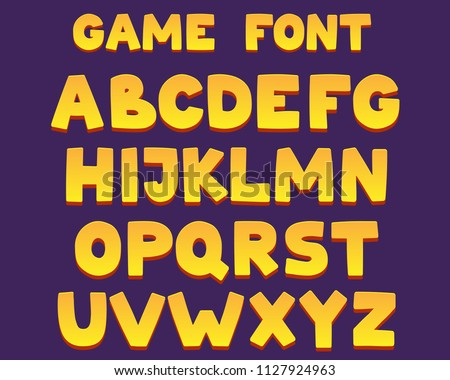 friendly cartoon font with 3d