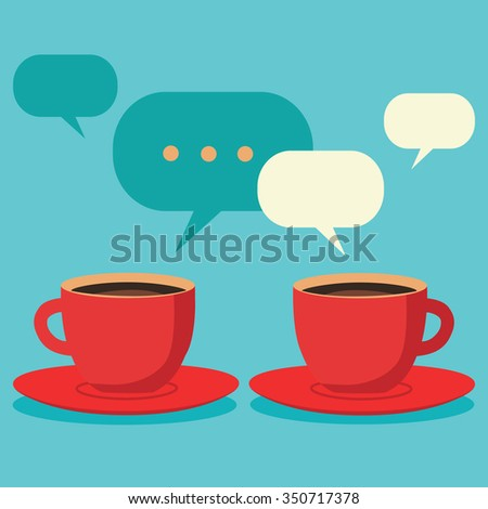 friendly chat over coffee  two