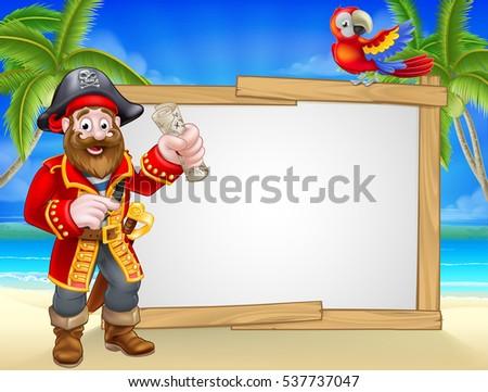 friendly pirate cartoon