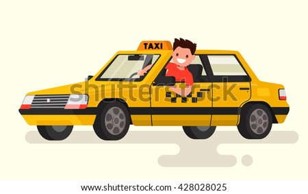 friendly taxi driver at the