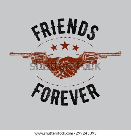 friends forever label design