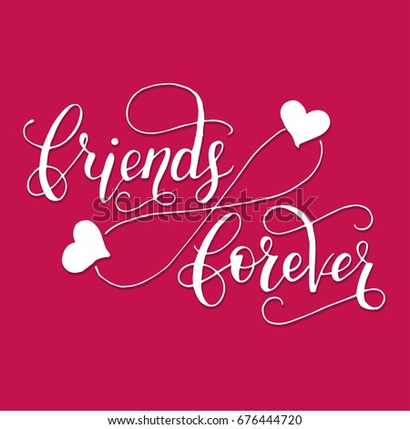 friends forever lettering card
