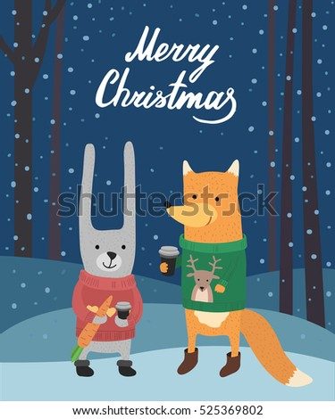 friends rabbit and fox in