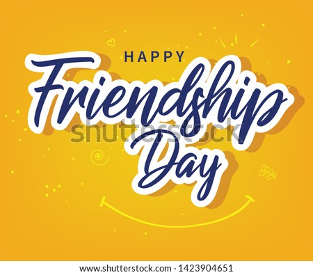 Friendship day vector illustration with text and elements for celebrating friendship day 2019