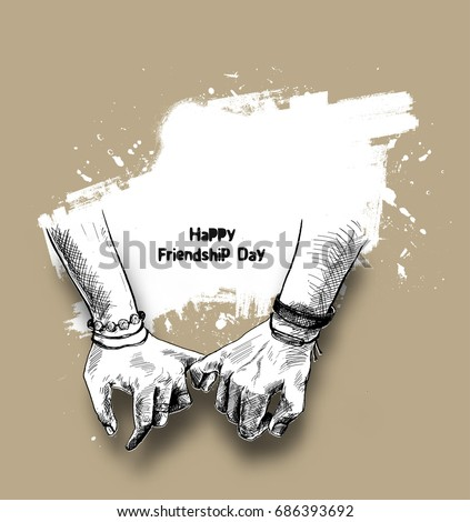 friendship day with holding