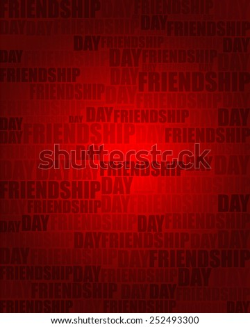 Friendship Day with same text on red gradient background.