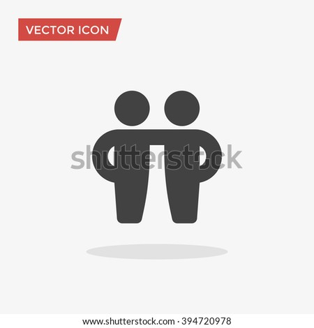 Friendship Icon in trendy flat style isolated on grey background. Friends symbol for your web site design, logo, app, UI. Vector illustration, EPS10.