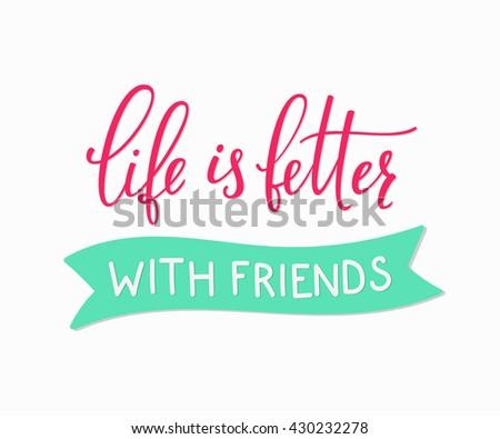 friendship lettering