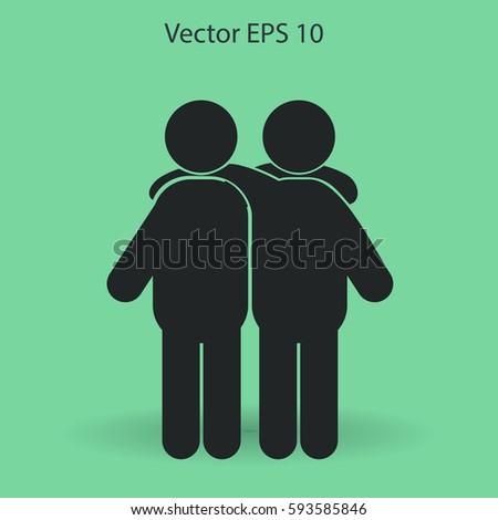friendship vector icon