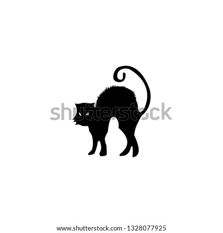 fright cat icon vector. fright cat vector graphic illustration