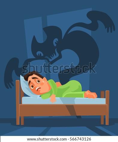 frightened man character woke