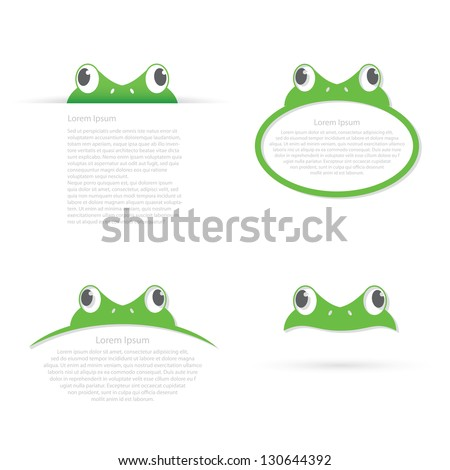 frog banners   vector