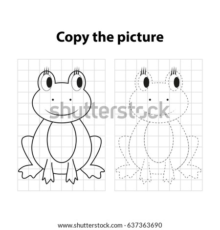 frog  copy the picture  game