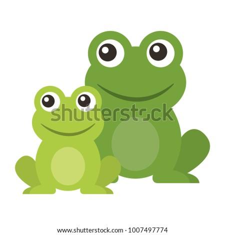 frog cute animal sitting cartoon