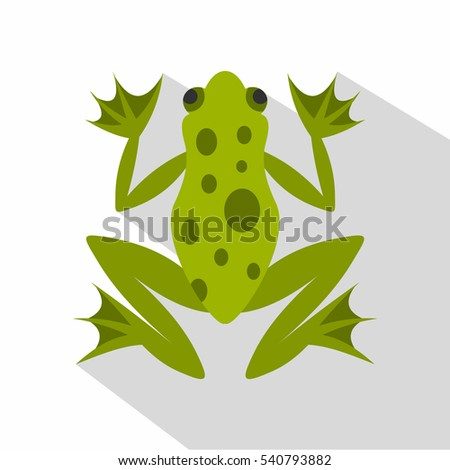 frog icon flat illustration of