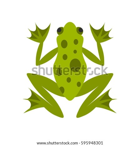 Frog icon in flat style isolated on white background vector illustration