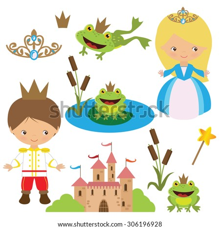 stock-vector-frog-princess-and-prince-vector-illustration
