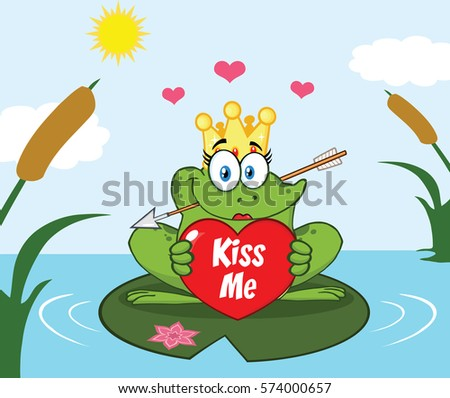 frog princess cartoon mascot