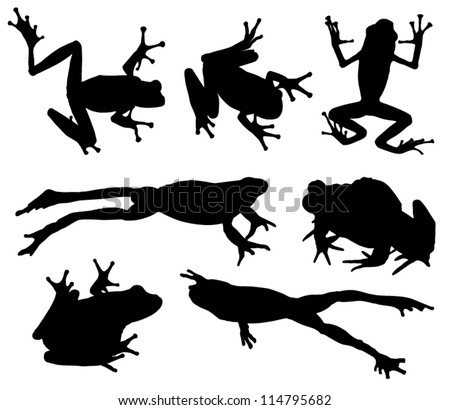 free frog silhouette vector download free vector art stock rh vecteezy com Simple Frog Drawing Black and White Frog Vector