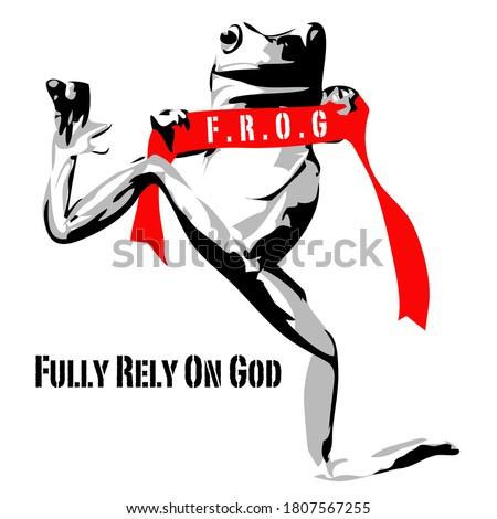 frog stencil vector street art