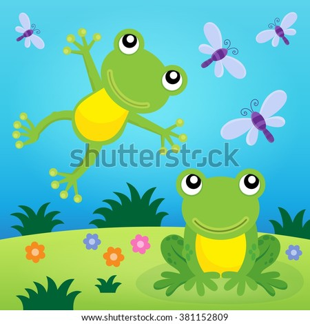 frog thematic image 2   eps10