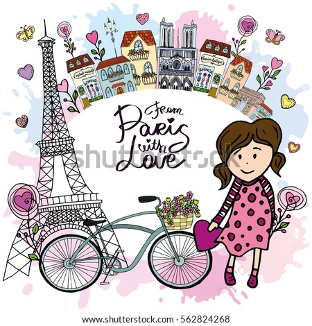 from paris pretty card