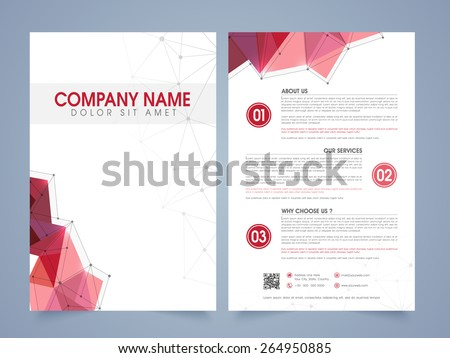 abstract professional brochure design template download free