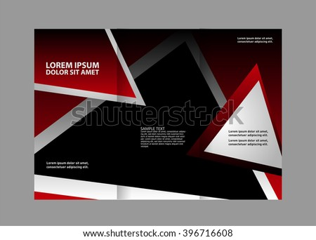 Front and back presentation of professional Two page Business Trifold, Flyer, Banner or Template design.  #396716608