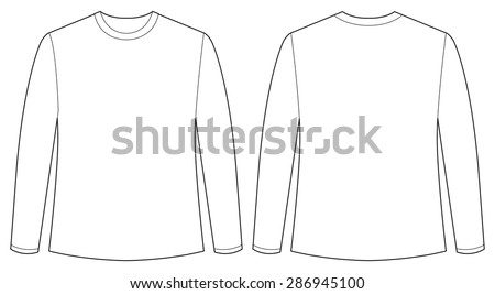 Front and back view of long sleeves shirt