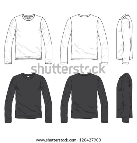 Front, back and side views of blank tee