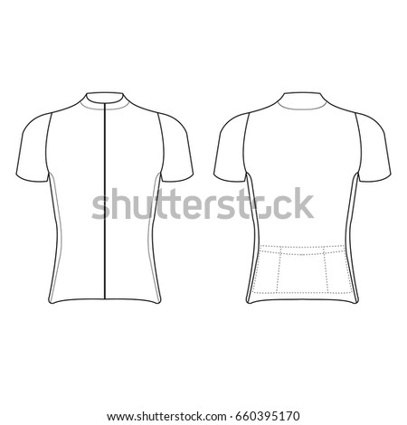 Front Back Vector Cycling Jersey Template  9c0b42168