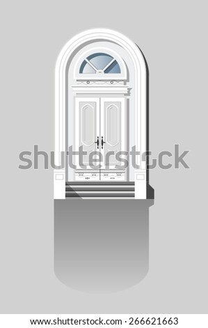 front door to the house in the classical style