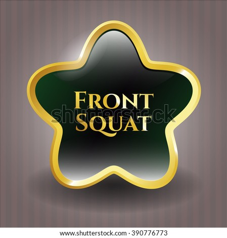 Front Squat golden badge or emblem