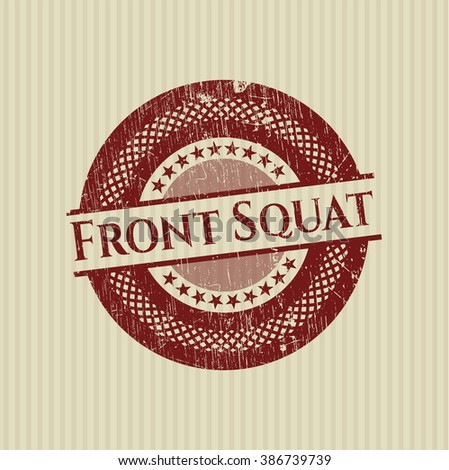 Front Squat with rubber seal texture