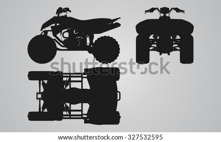 Vector Images Illustrations And Cliparts Front Top And Side Quad Bike Projection Flat Illustration Set For Designing Motorbikes Icons Hqvectors Com