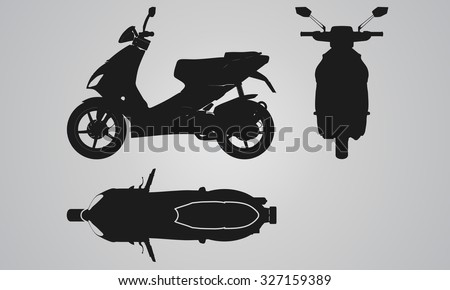 front  top and side scooter
