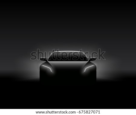 front view dark concept car