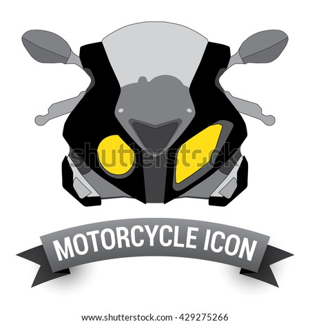 front view motor bike icon