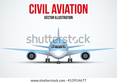 front view of civil aircraft