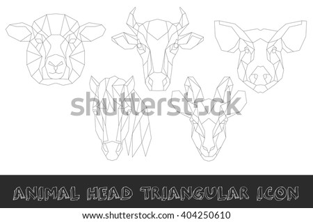 front view of farm animal head
