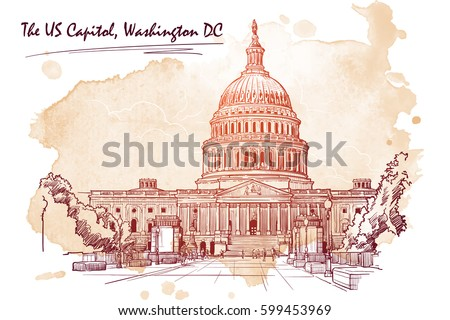 front view of the us capitol...