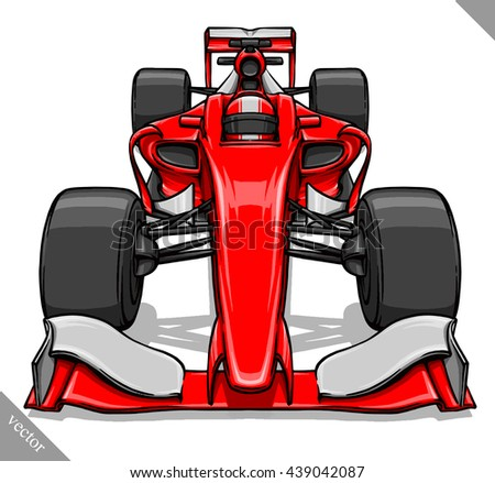 front view vector fast cartoon