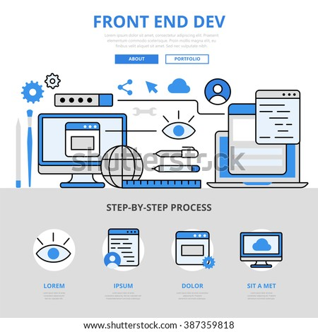 frontend development front end