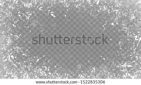 Frost background. Snow frame. Frozen window.