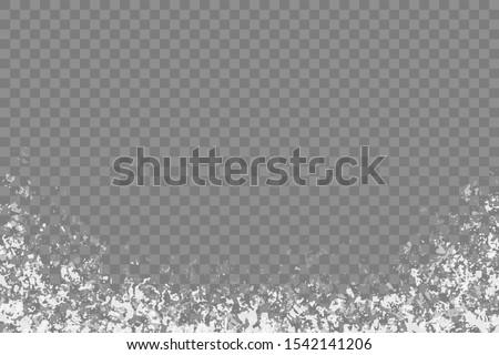Frost effect, vector illustration on transparent background.