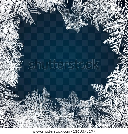 frost glass pattern winter