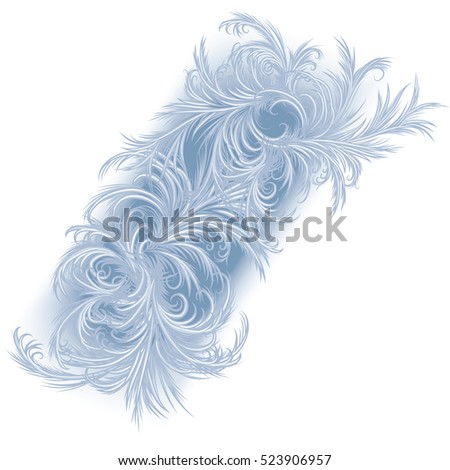 Frost pattern, frosty window background hand drawn vector illustration of an intricate frost work.