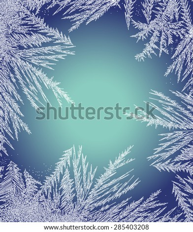 frosty pattern frame
