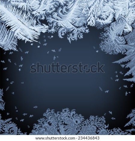 frosty window   background hand