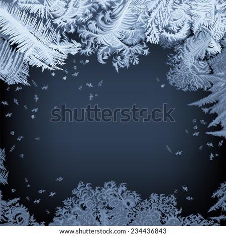 frosty window   background hand